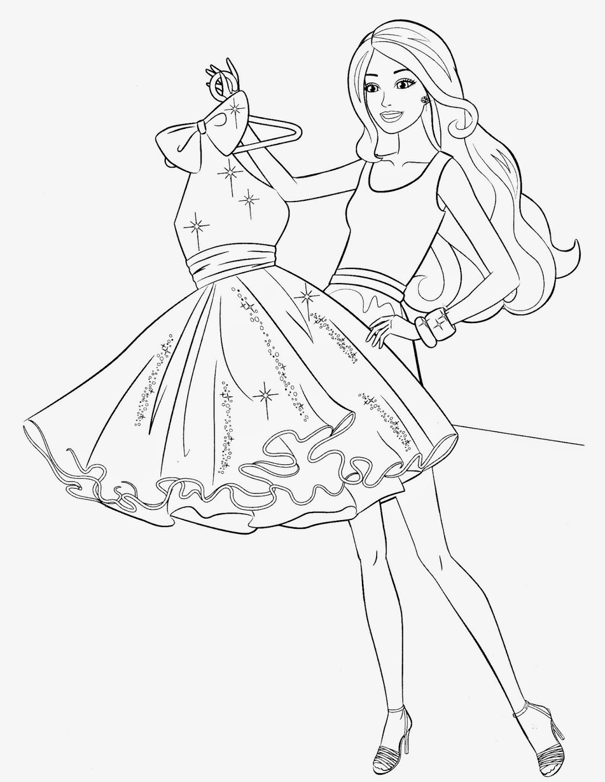 free barbie coloring pages free printable barbie coloring pages 03 free coloring barbie pages