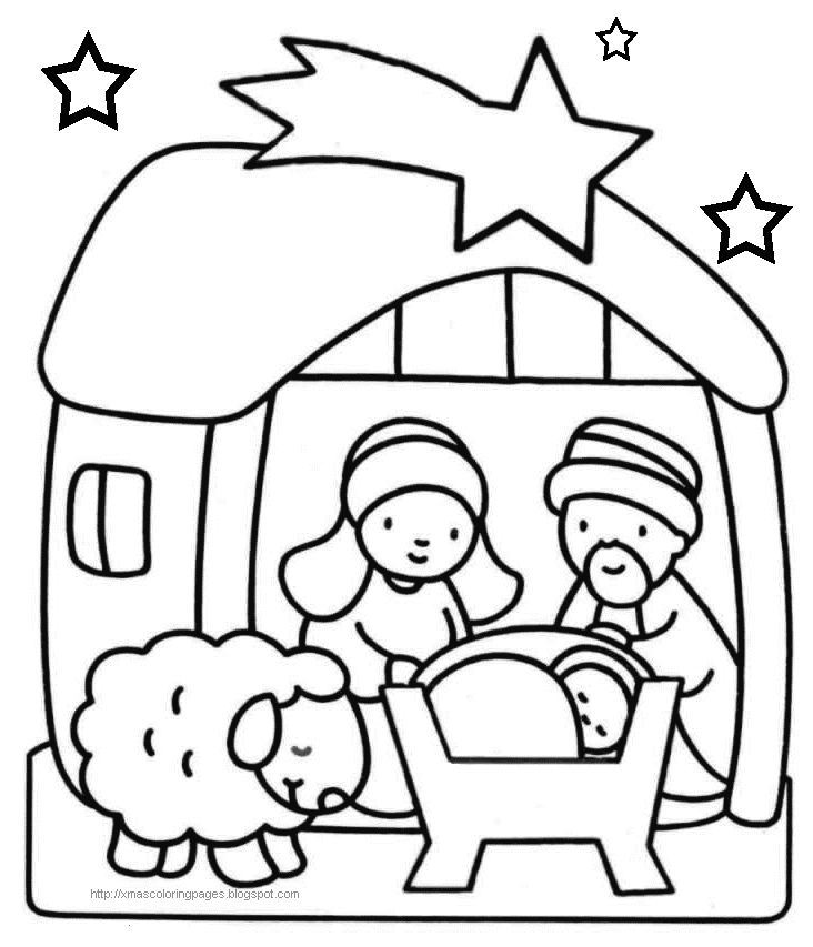 free christian christmas coloring pages printable christmas manger simple drawings search results printable free coloring christian christmas pages