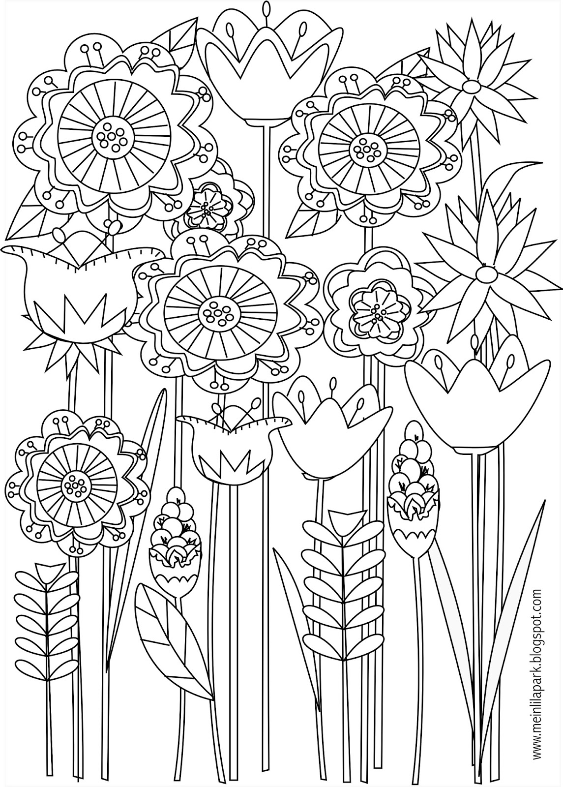 free coloring pages of flowers tulip coloring pages to download and print for free coloring pages flowers of free
