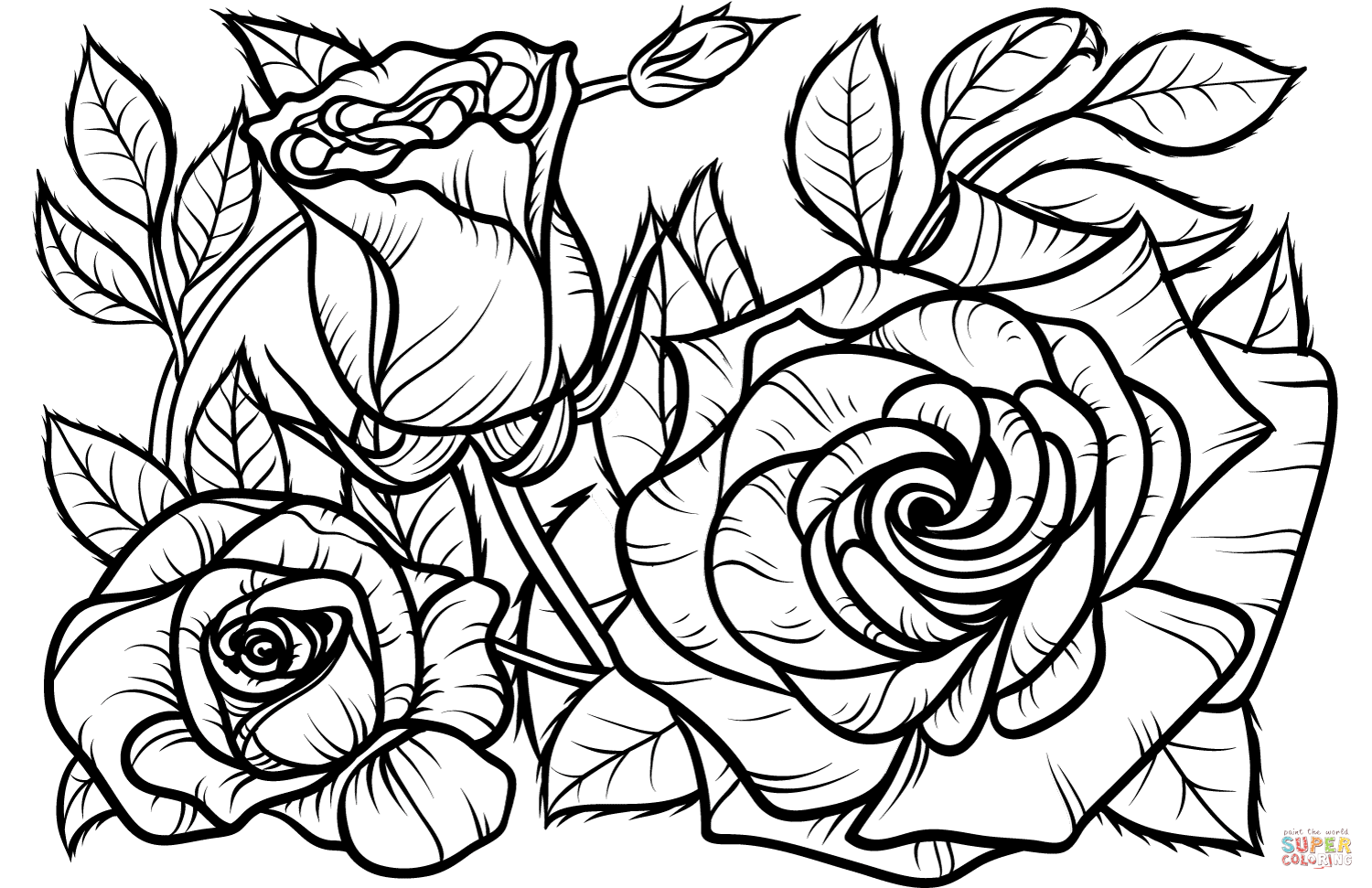 free coloring pages of roses pin by regina perry on sketches detailed coloring pages free of roses coloring pages