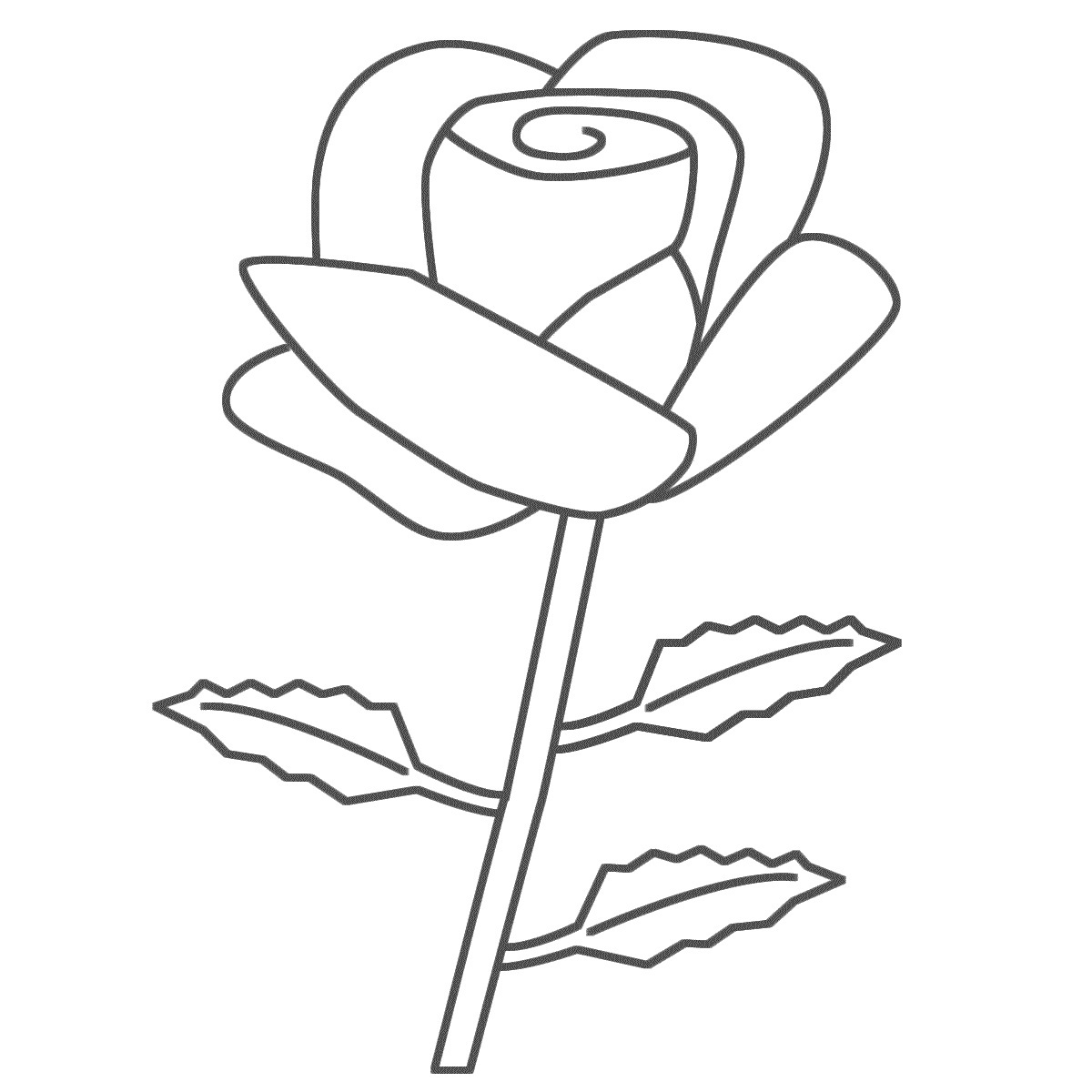 free coloring pages of roses rose with three leaves coloring page download print roses free pages coloring of