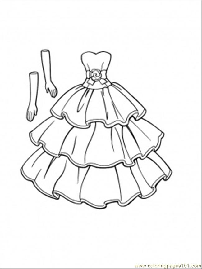 free dress coloring pages coloring pages this dress goes with gloves entertainment pages coloring free dress