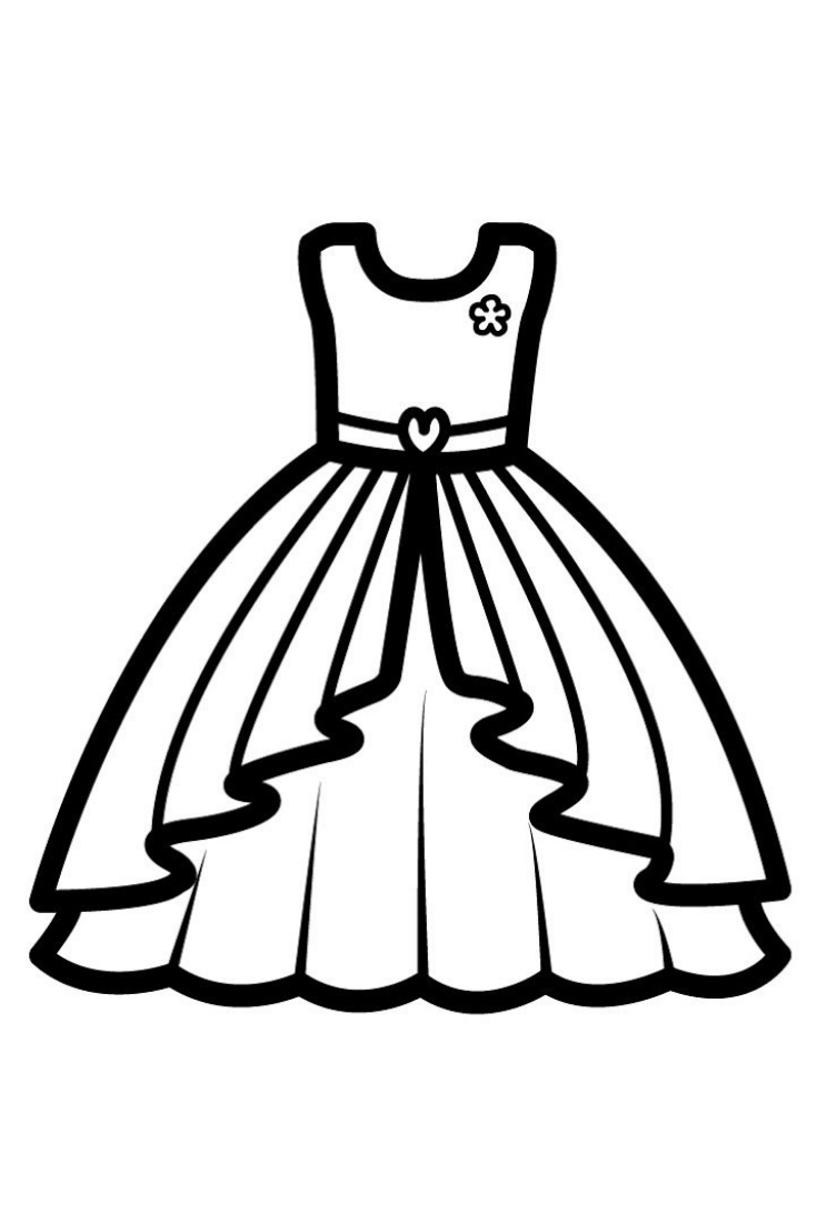 free dress coloring pages dress drawing free download on clipartmag dress free coloring pages
