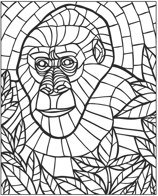 free mosaic coloring pages creative haven animal mosaics coloring book animal coloring mosaic pages free