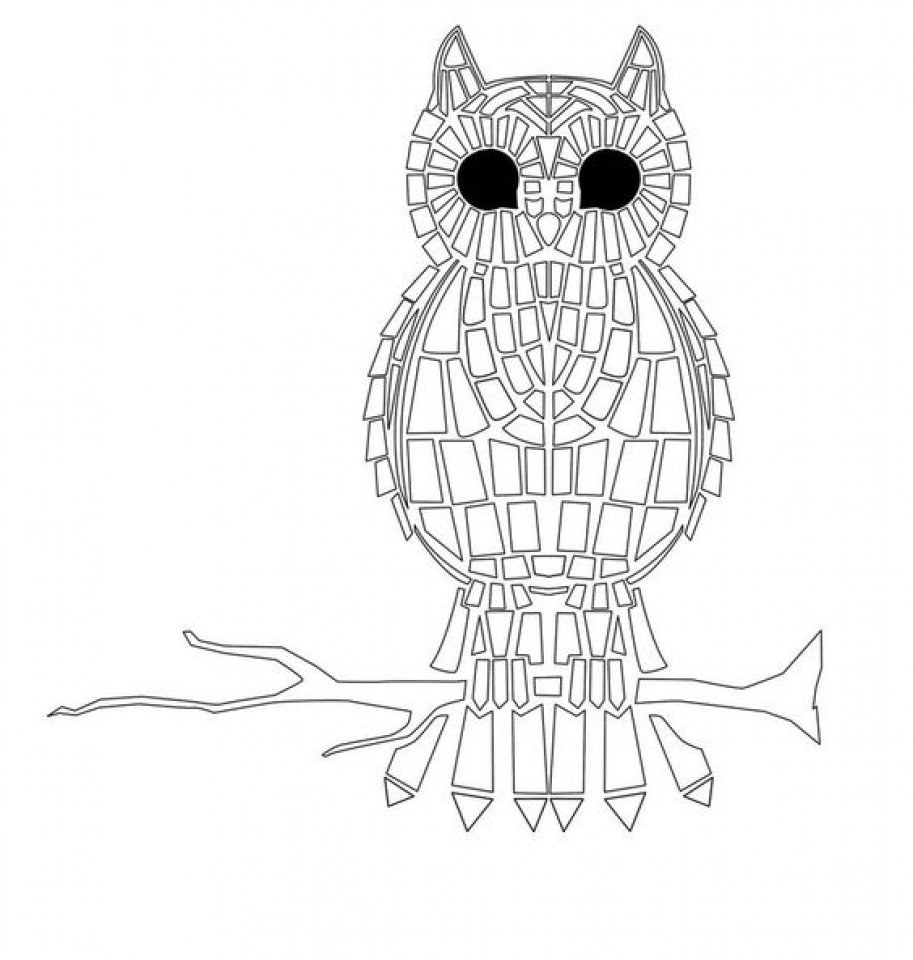 free mosaic coloring pages get this printable mosaic coloring pages online 32651 mosaic free coloring pages
