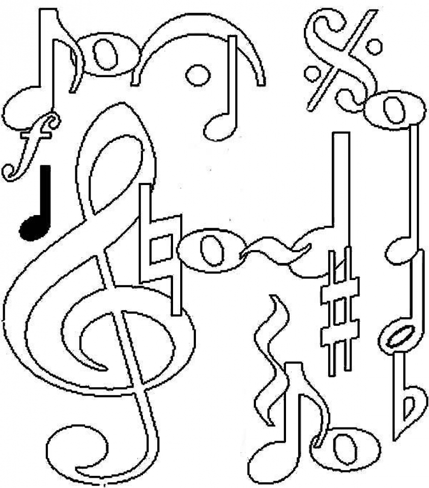 free music coloring sheets music coloring pages getcoloringpagescom music coloring sheets free