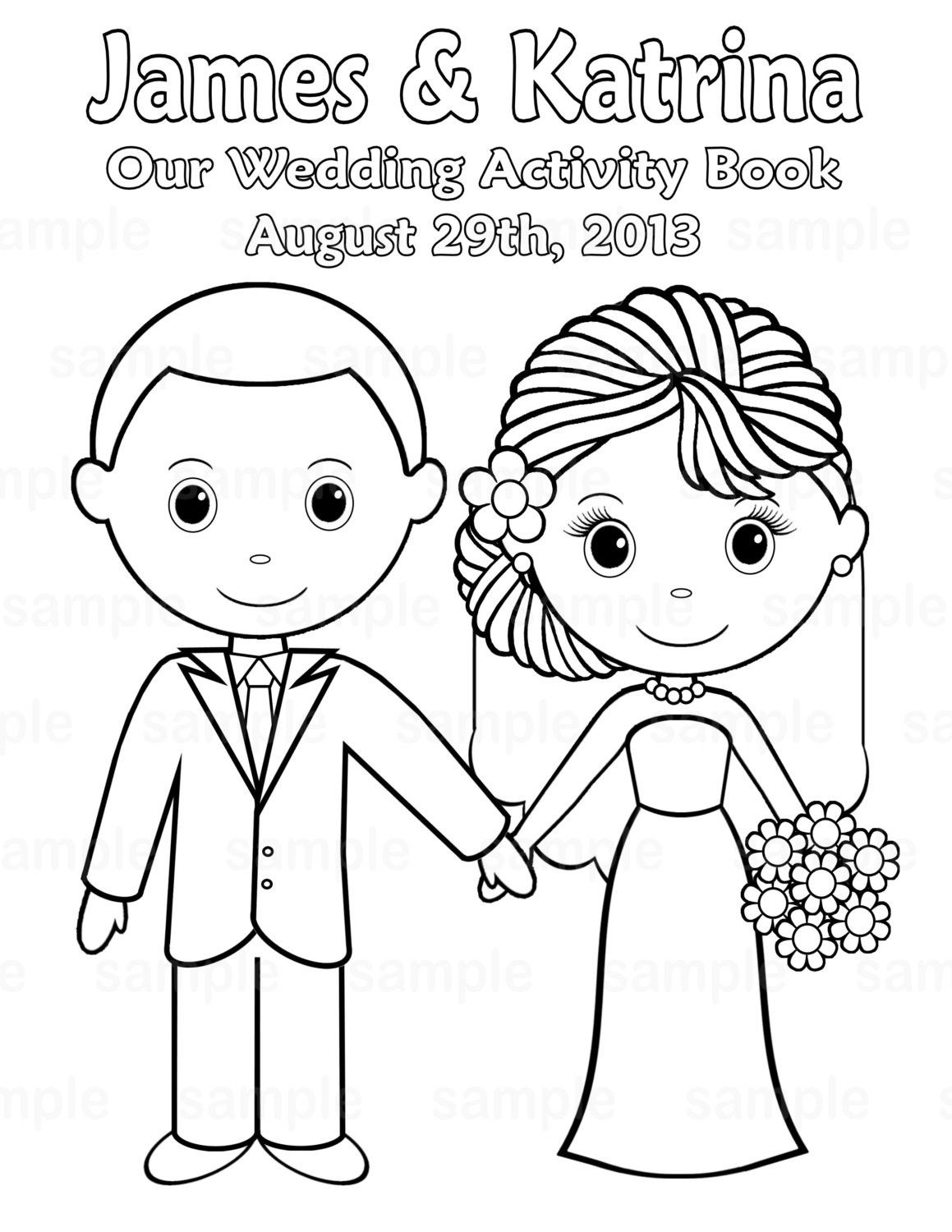 free personalized wedding coloring pages free bride and groom printable coloring page bride and wedding pages free personalized coloring