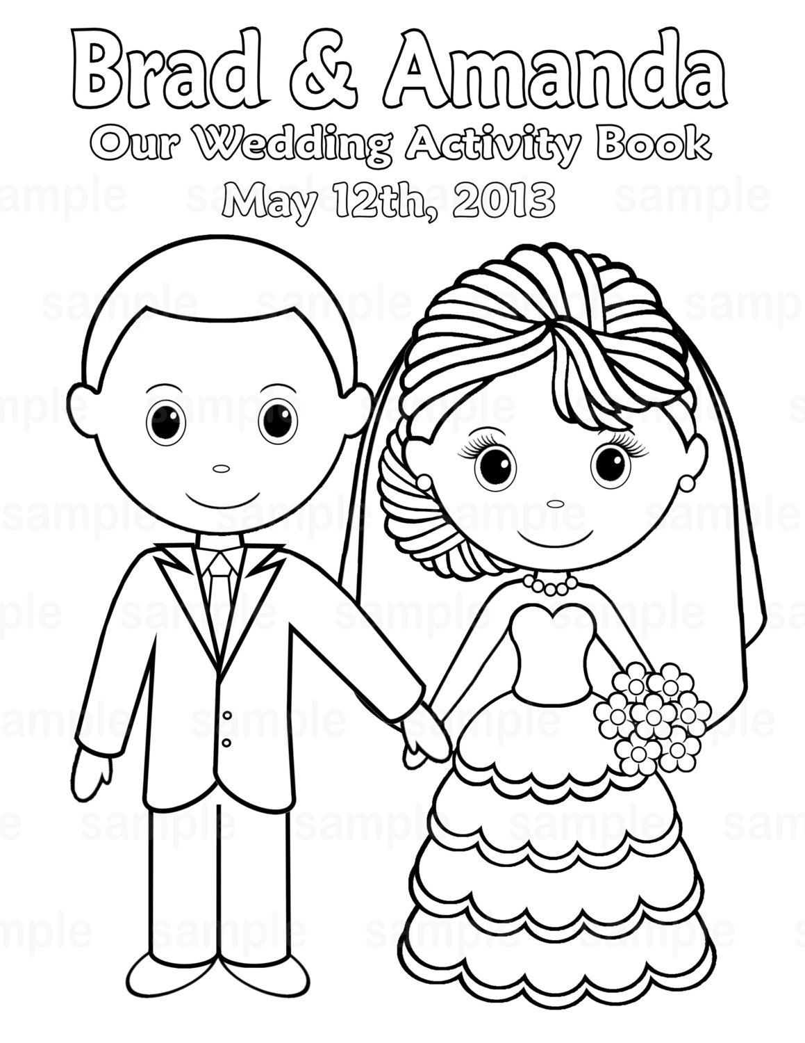 free personalized wedding coloring pages free printable wedding coloring pages free printable pages coloring personalized wedding free