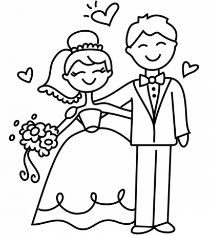 free personalized wedding coloring pages top 14 romantic and charming bride and groom coloring coloring wedding free personalized pages