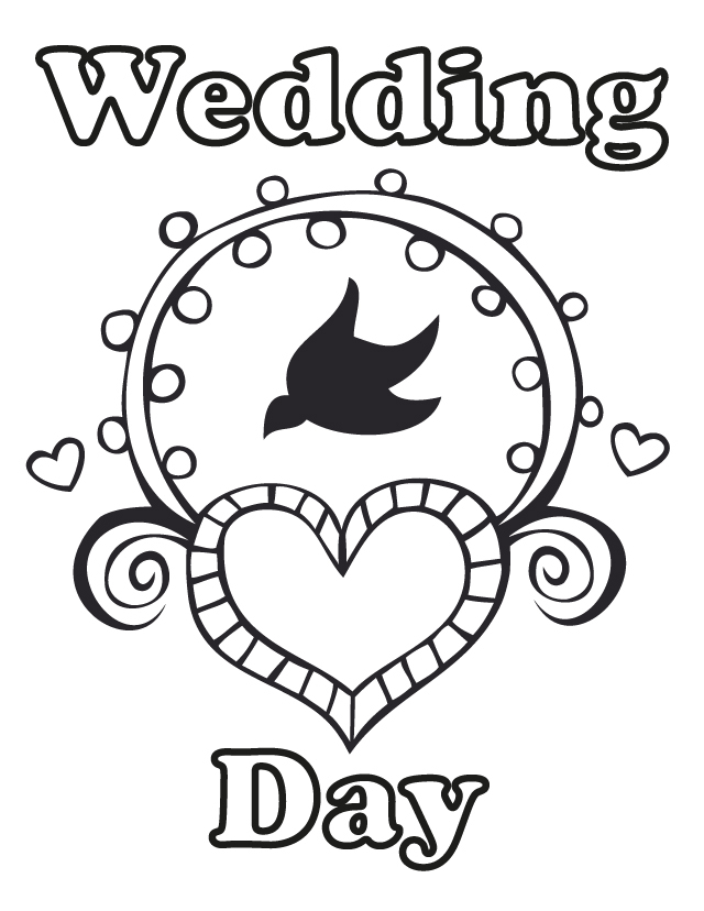 free personalized wedding coloring pages wedding day free printable coloring pages pages wedding personalized free coloring