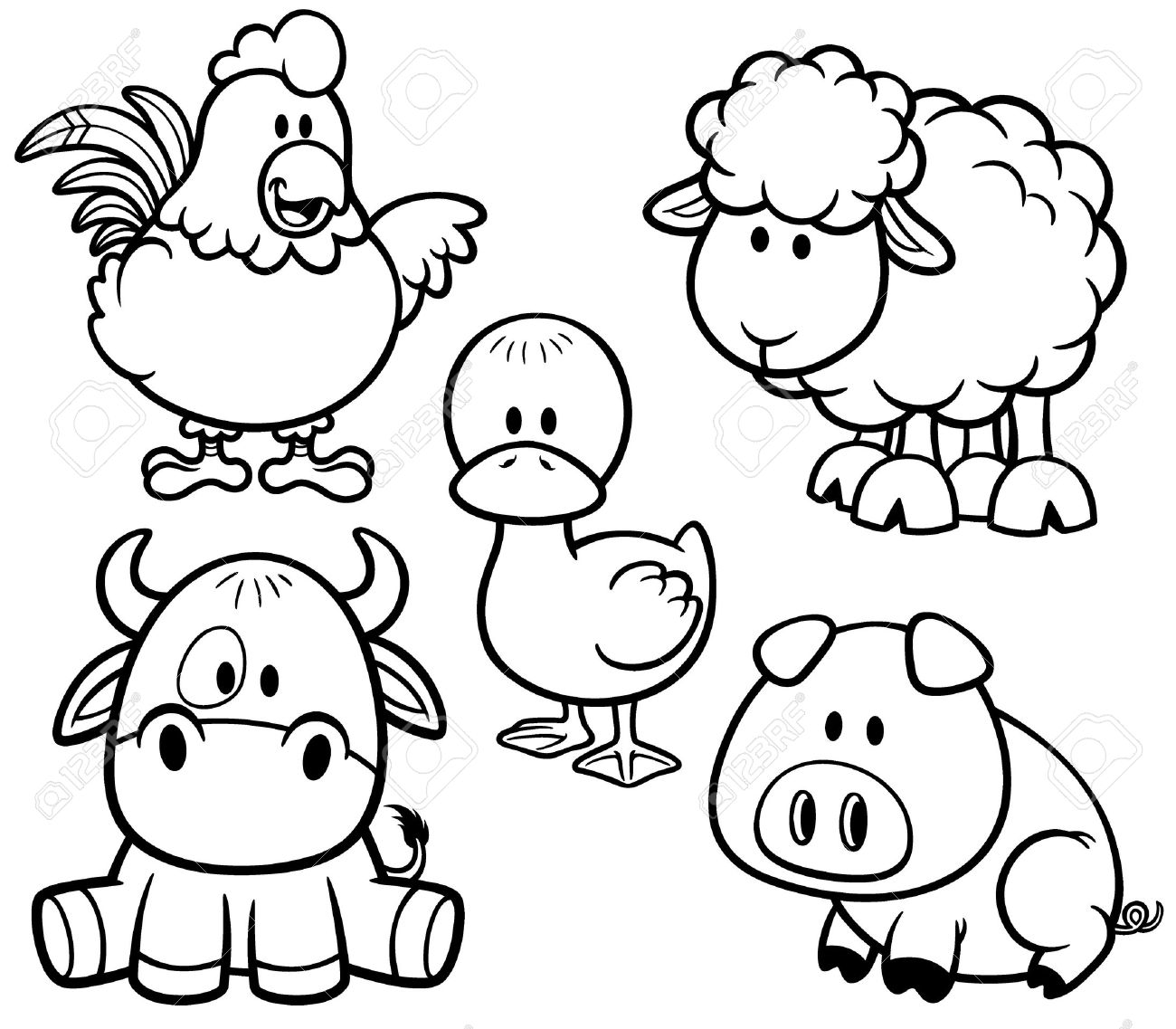 free pictures of farm animals to print free printable farm animal coloring pages for kids of pictures free print farm to animals