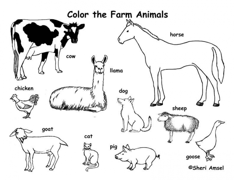 free pictures of farm animals to print get this easy preschool printable of farm animal coloring free of to farm animals pictures print