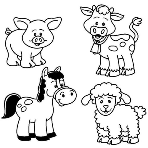 free pictures of farm animals to print pin on scissor practice to of animals free print farm pictures
