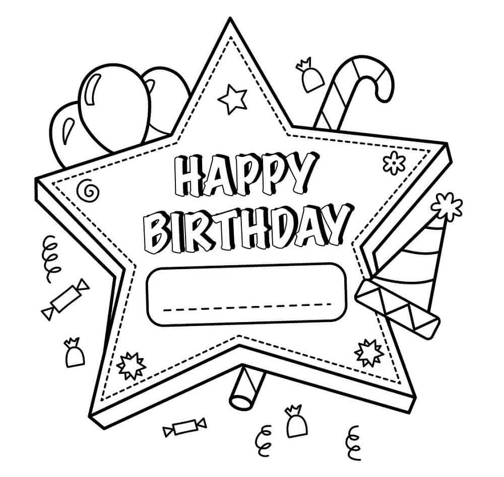 free printable birthday coloring pages free easy to print happy birthday coloring pages tulamama printable pages free coloring birthday