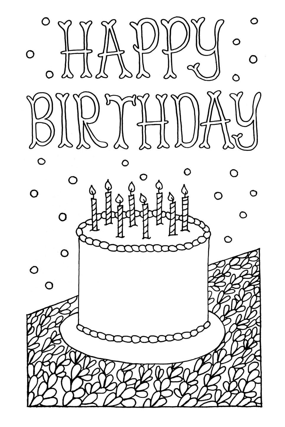 free printable coloring birthday cards 25 free printable happy birthday coloring pages free cards birthday coloring printable