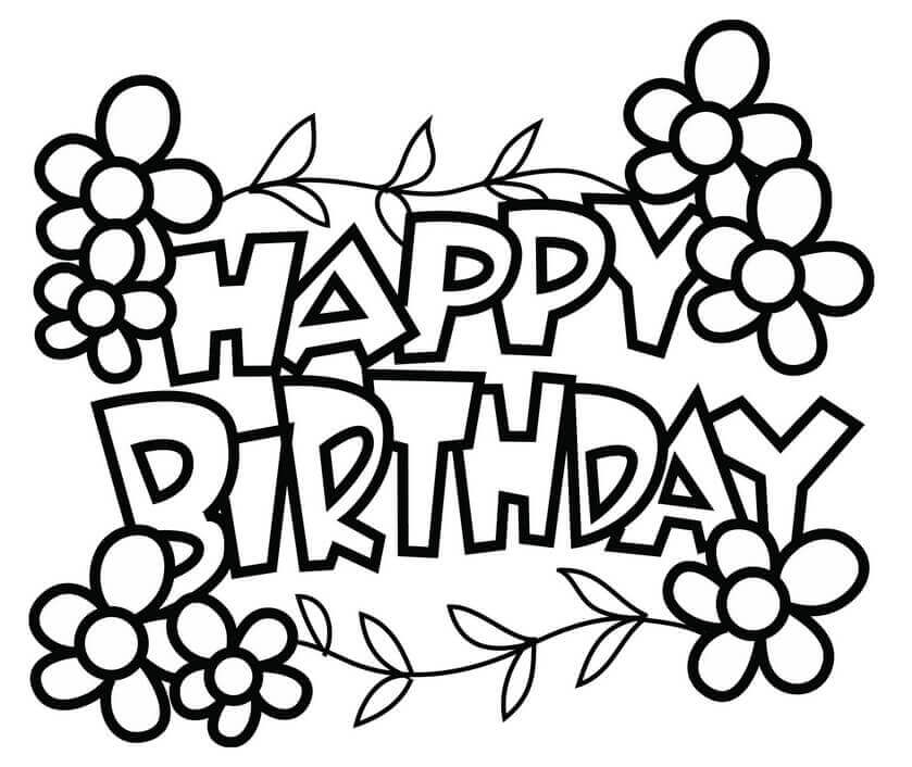 free printable coloring birthday cards 25 free printable happy birthday coloring pages printable cards birthday free coloring