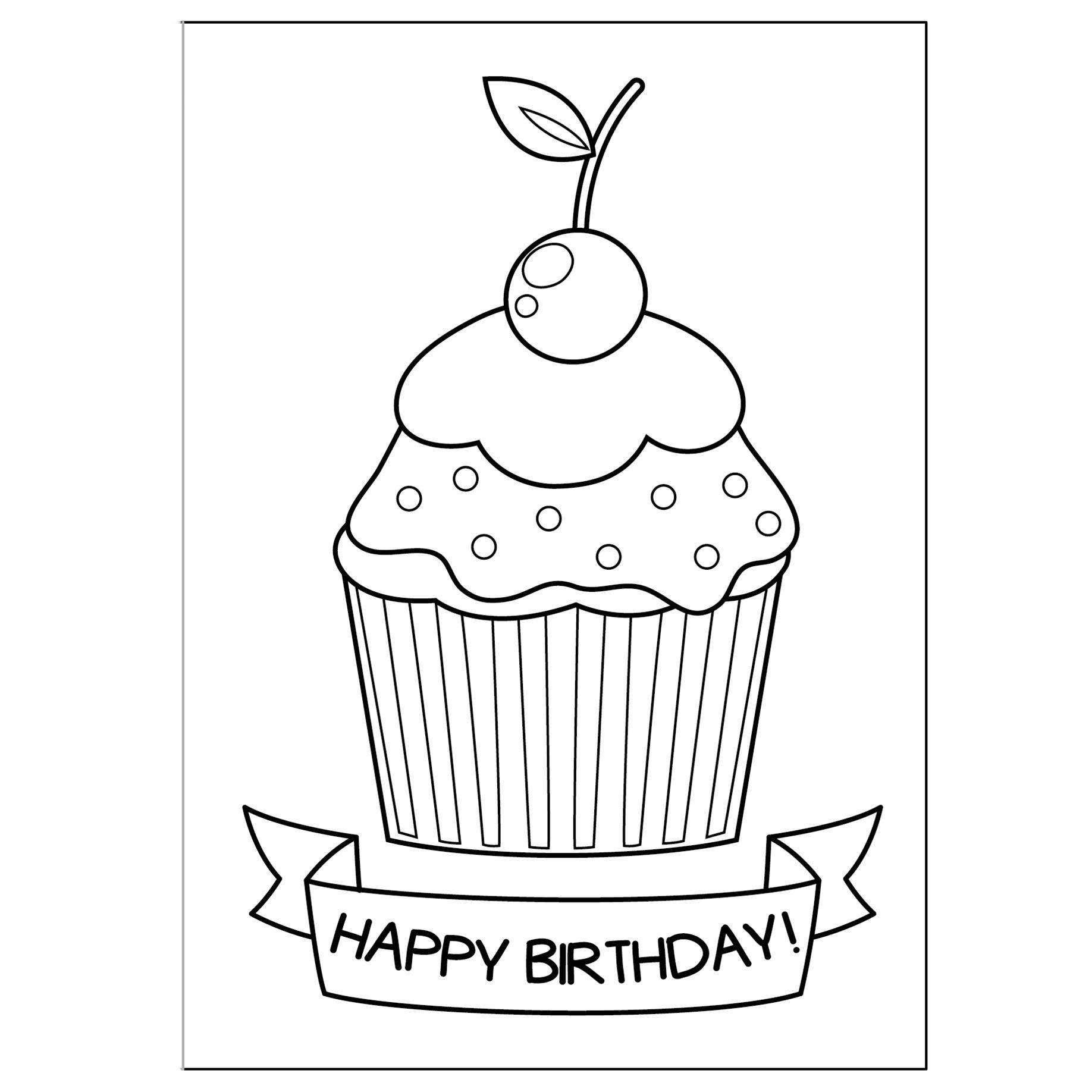 free printable coloring birthday cards free printable happy birthday coloring pages for kids free coloring cards printable birthday