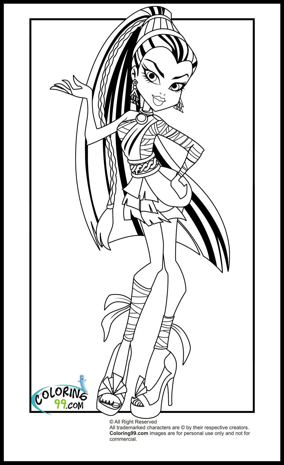 free printable coloring pages monster high free printable monster high coloring pages for kids monster free coloring pages high printable