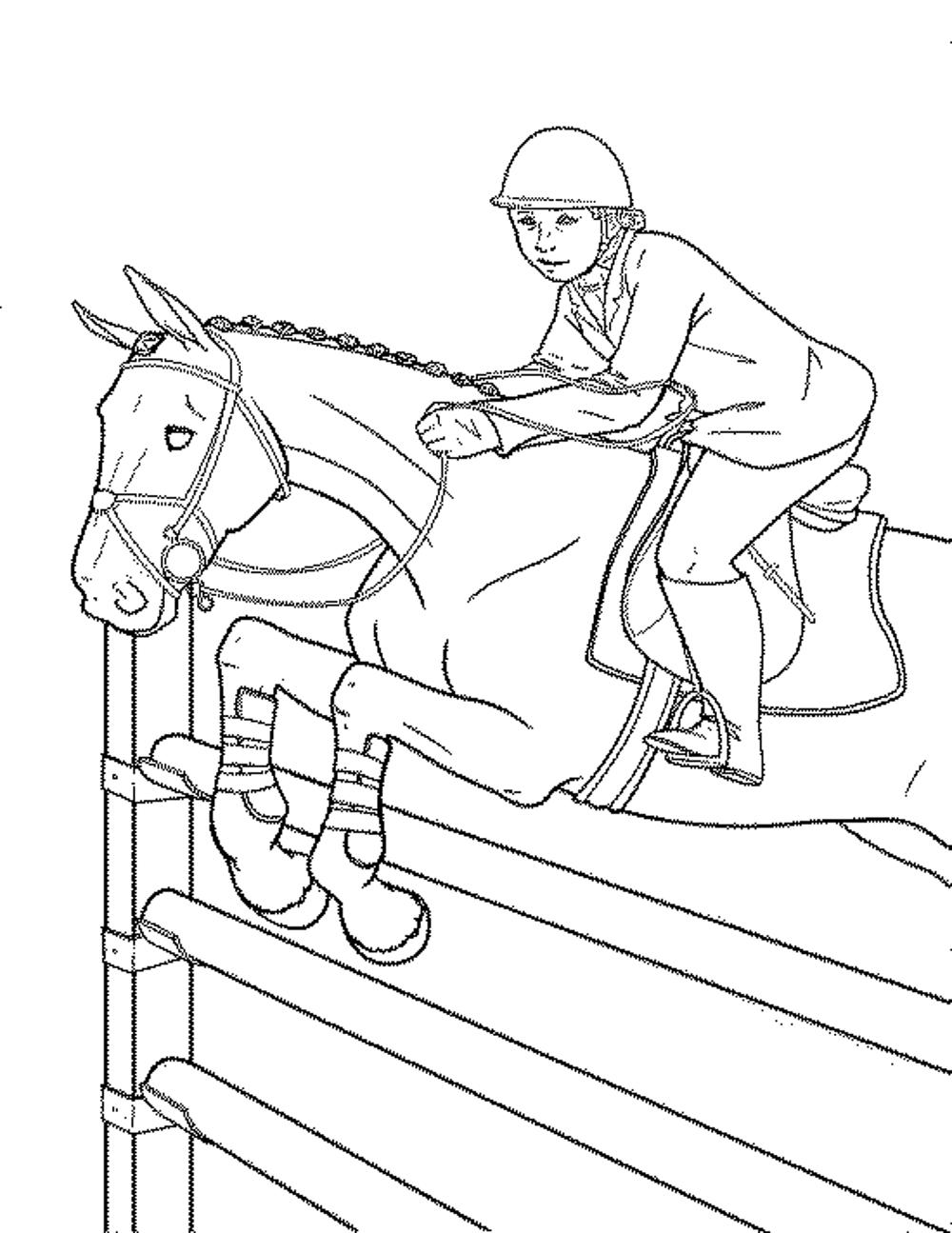 free printable coloring pages of horses Лошади Раскраски для детей Ай да детки free printable pages of horses coloring