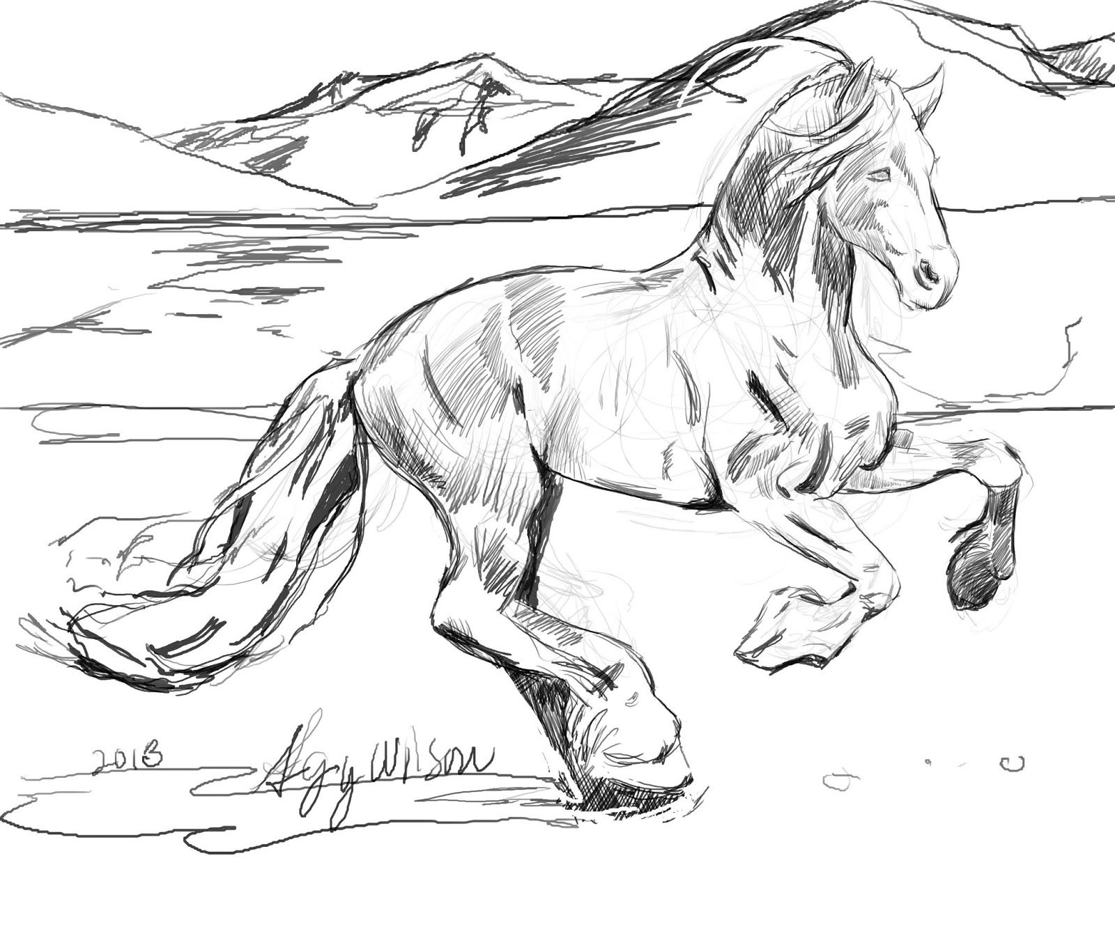 free printable coloring pages of horses american saddlebred mare horse coloring page free horses coloring printable pages free of