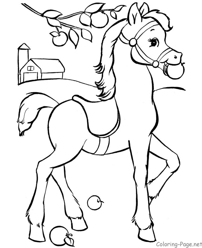 free printable coloring pages of horses cute farm horse free printable coloring page for kids horses of coloring pages free printable