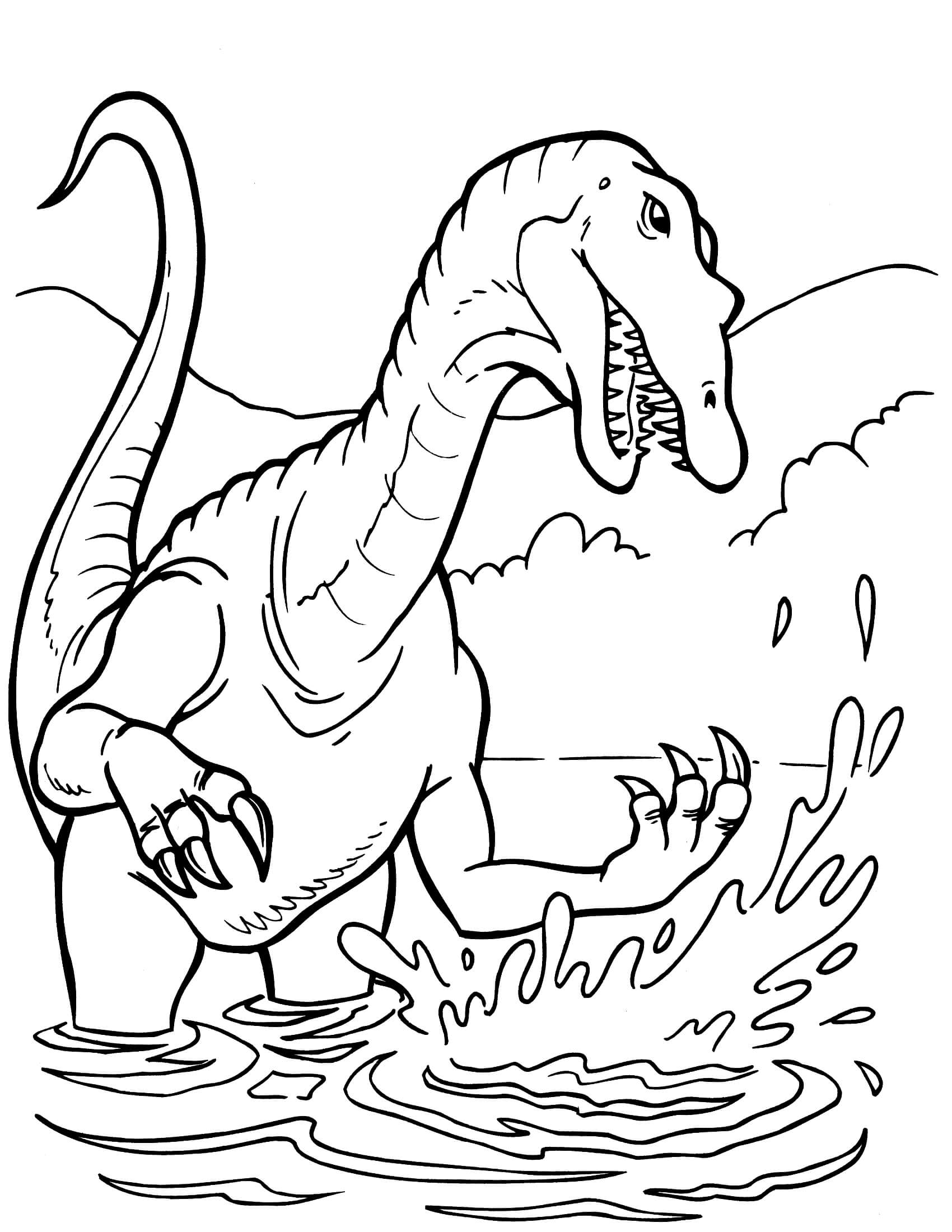 free printable dinosaur coloring pages dinosaur 6 coloringcolorcom free pages printable dinosaur coloring