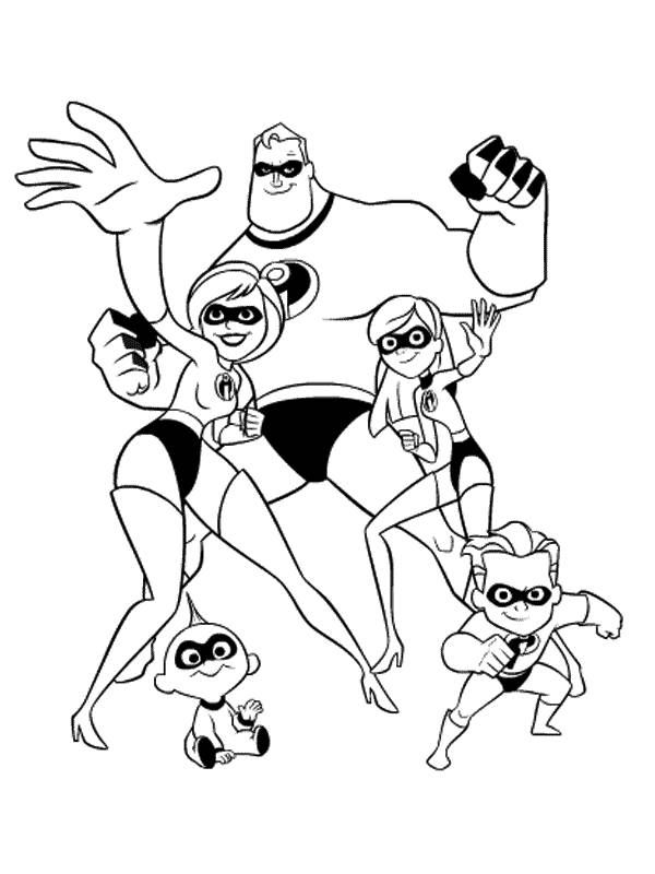 free printable incredibles 2 coloring pages incredibles 2 coloring pages getcoloringpagescom 2 pages printable free coloring incredibles