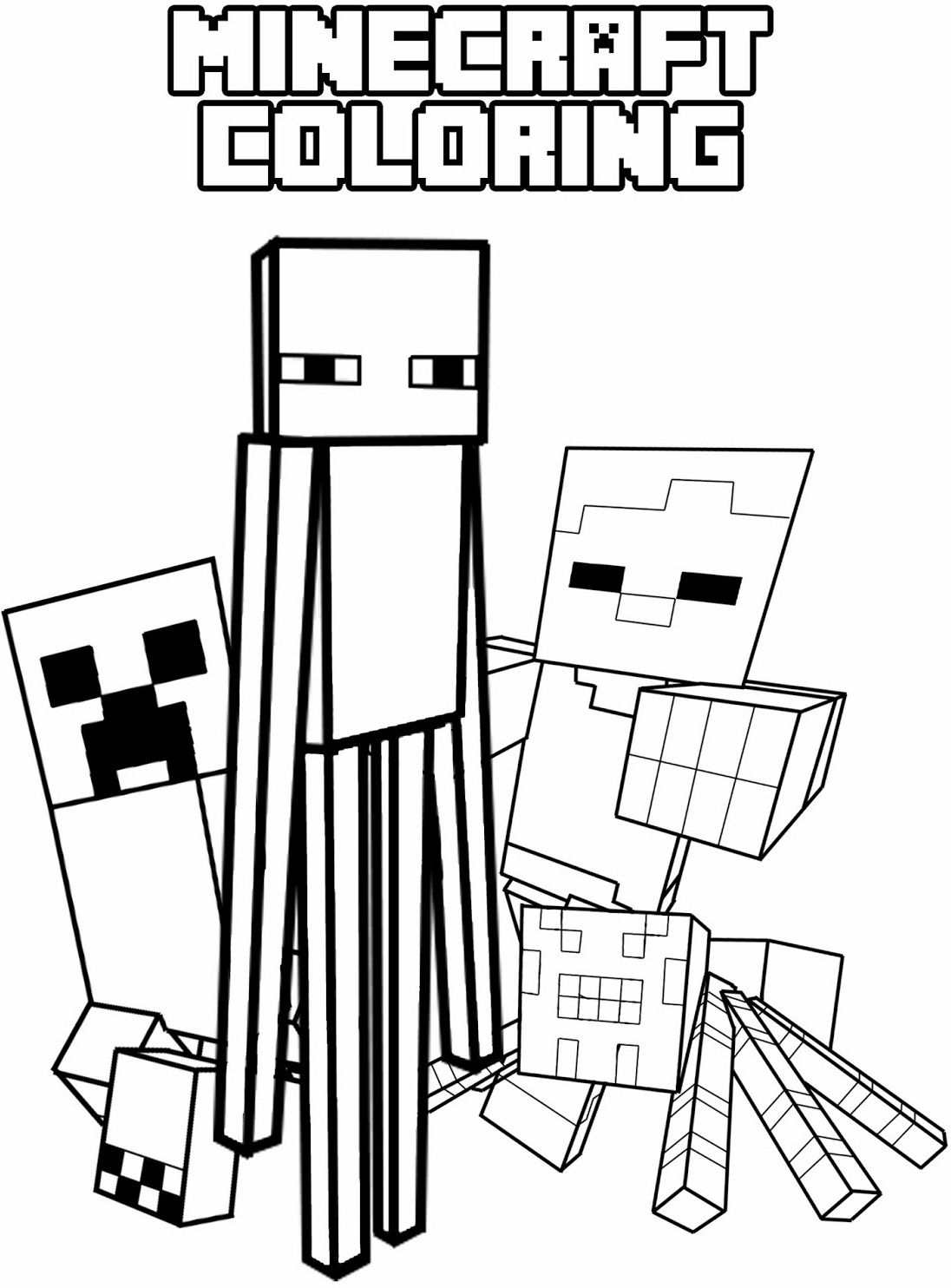 free printable minecraft pictures minecraft coloring pages enderman at getcoloringscom minecraft pictures printable free