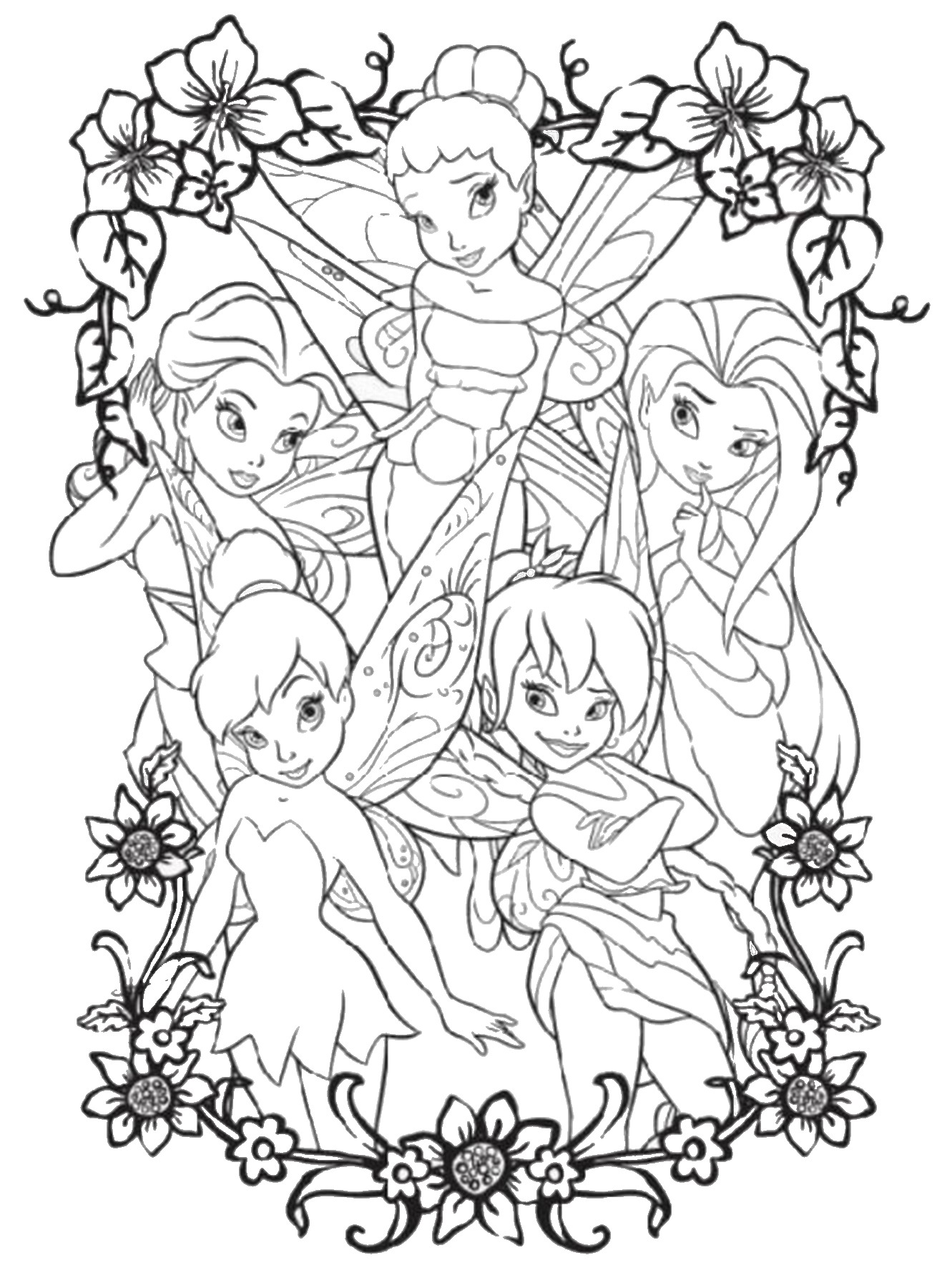 free printable tinkerbell coloring pages tinker bell coloring pages to download and print for free printable pages free tinkerbell coloring