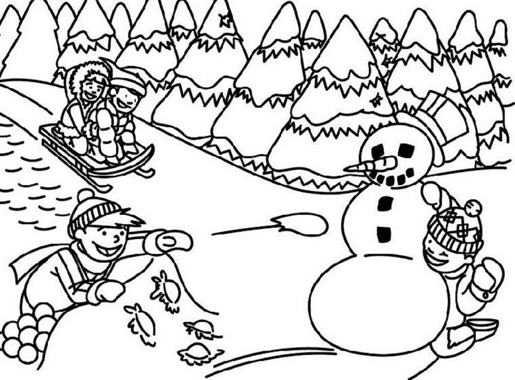 free printable winter scenes winter scene coloring pages yahoo image search results winter scenes printable free