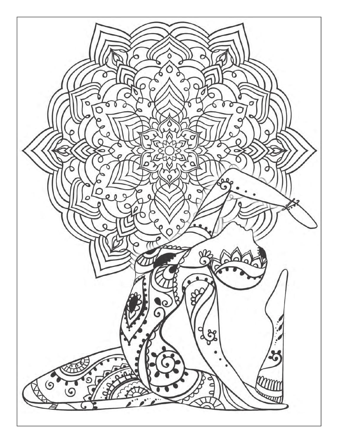 free printable yoga coloring pages yoga and meditation coloring book for adults with yoga pages free coloring yoga printable