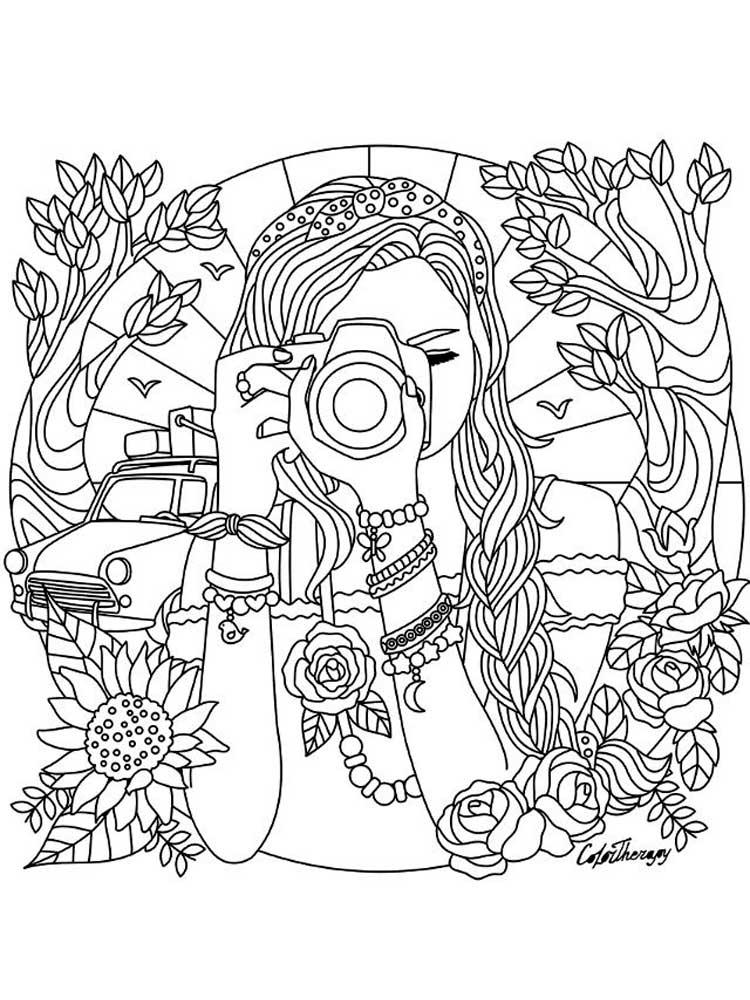 free teen coloring pages detailed coloring pages for teens at getdrawings free pages teen free coloring