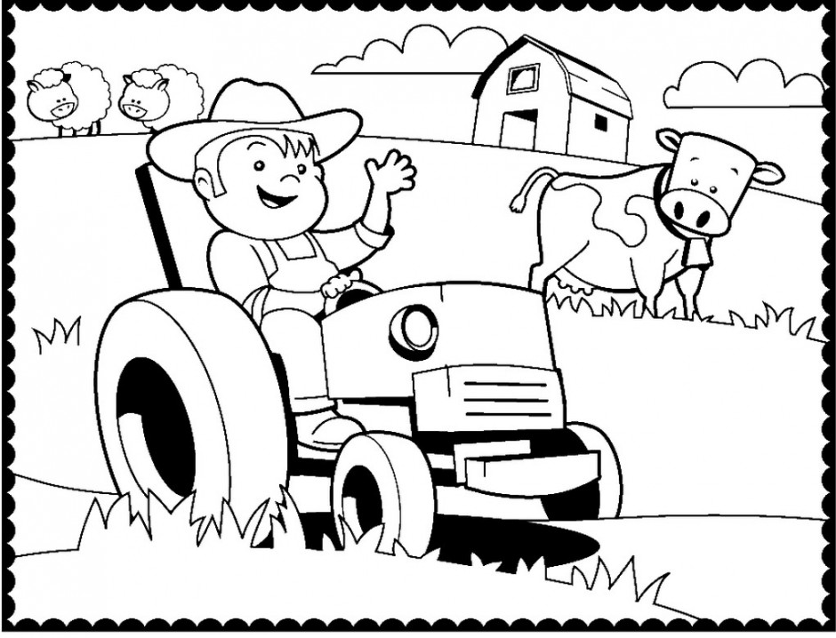 free tractor coloring pages 20 free printable tractor coloring pages coloring tractor pages free