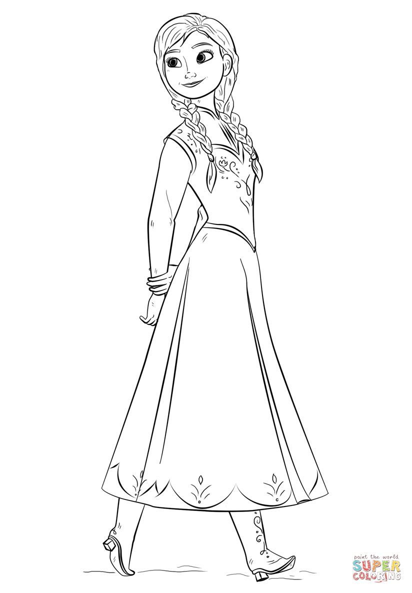 frozen coloring pages anna 20 free printable disney princess anna coloring pages coloring anna frozen pages
