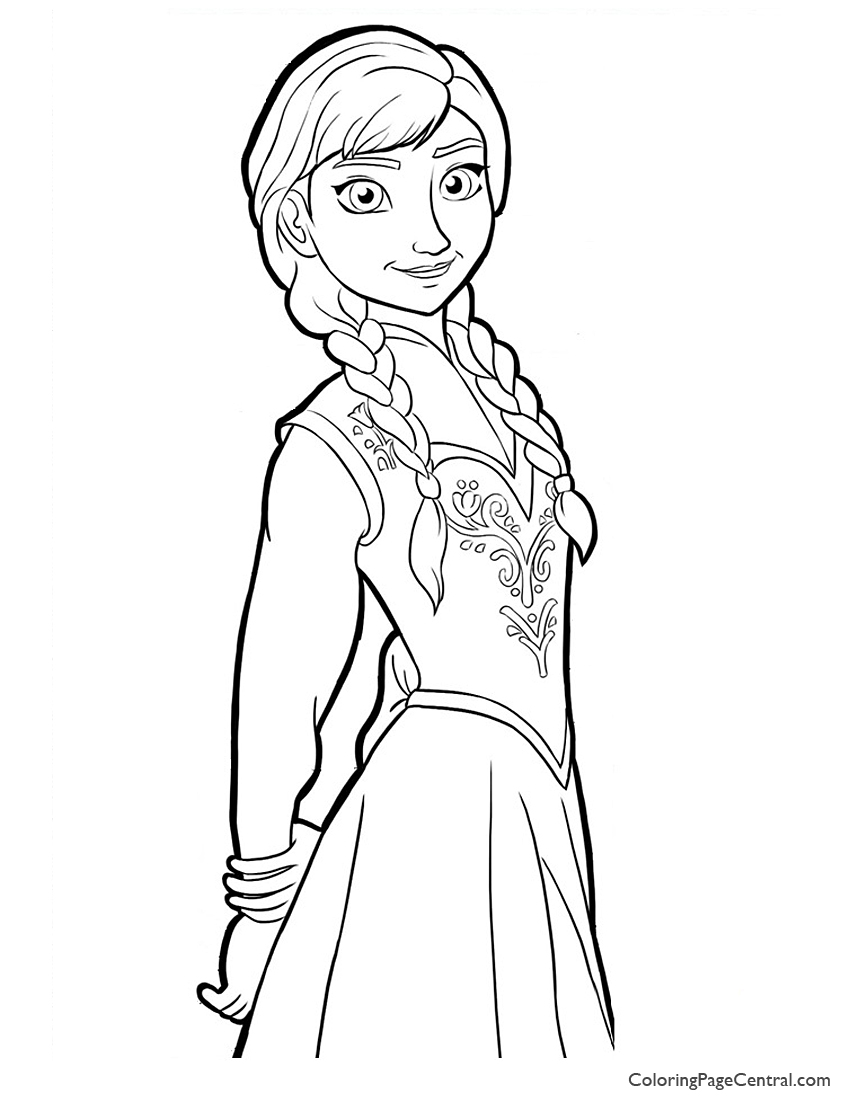 frozen coloring pages anna anna drawing at getdrawings free download anna pages frozen coloring