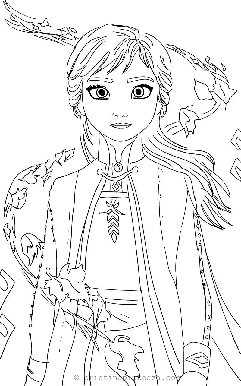 frozen coloring pages anna anna from frozen 2 coloring pages cristina picteazacom pages anna frozen coloring