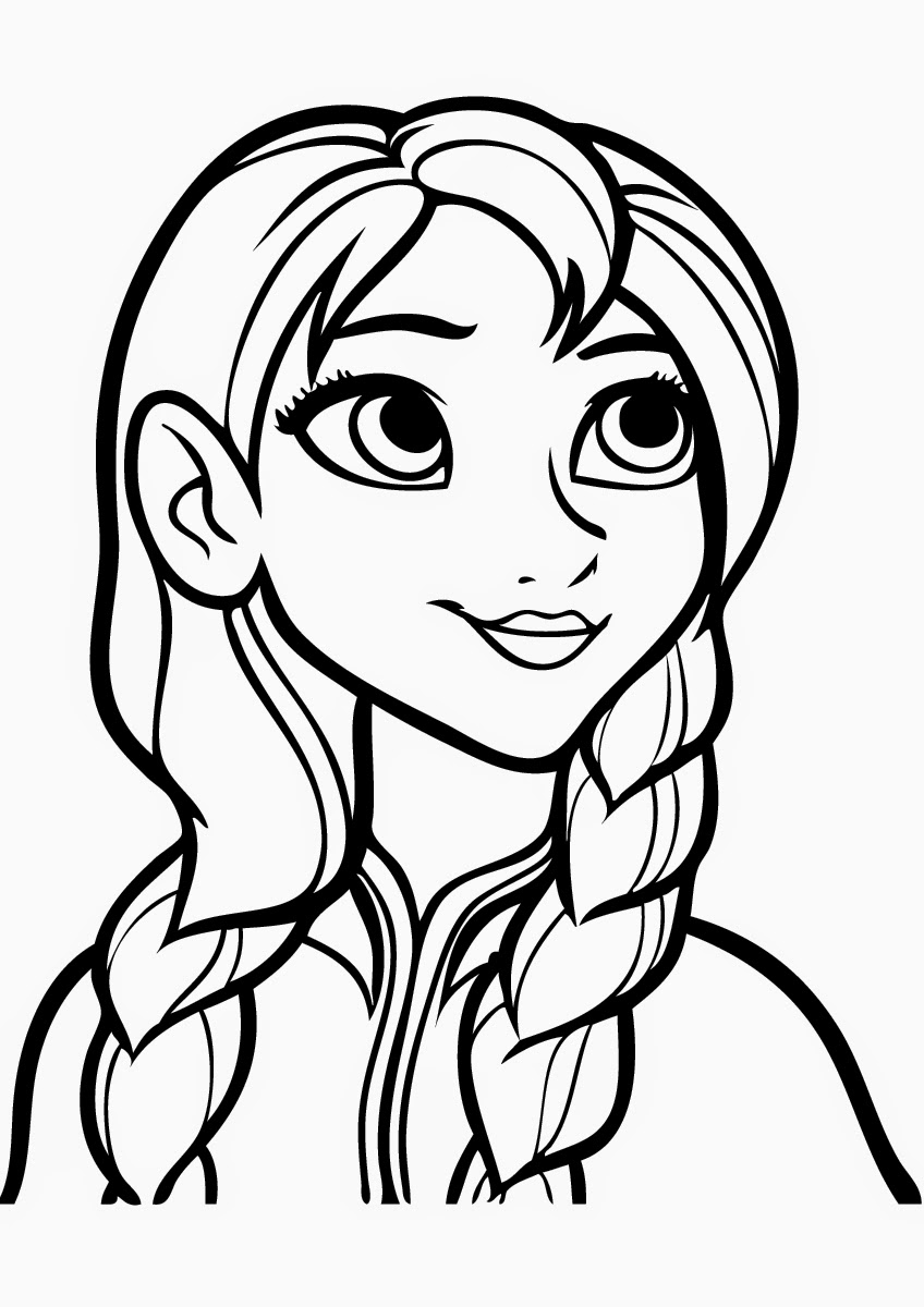 frozen coloring pages anna anna frozen drawing at getdrawings free download pages frozen anna coloring