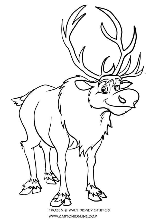 frozen coloring pages sven sven from frozen coloring pages sven pages coloring frozen