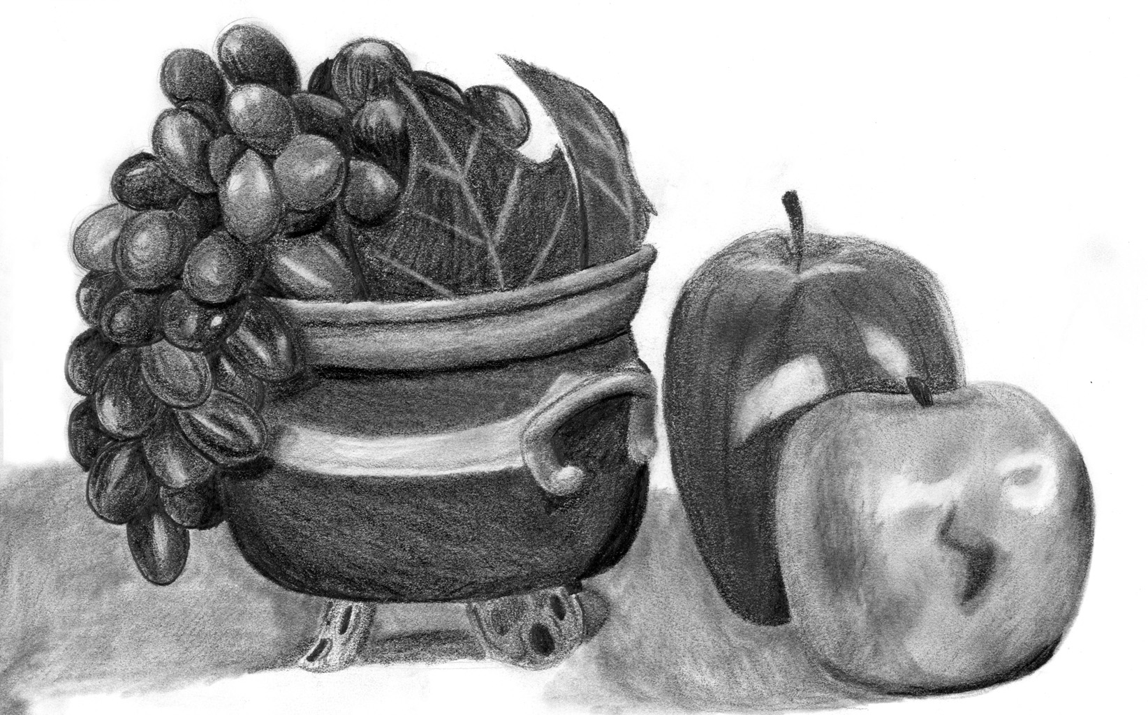 fruit drawing hand drawing background of red grapes and arrayan fruits fruit drawing