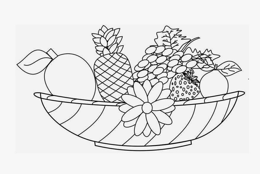 fruits drawing for colouring art projects for kids esl fruit bowl drawing fruits for colouring