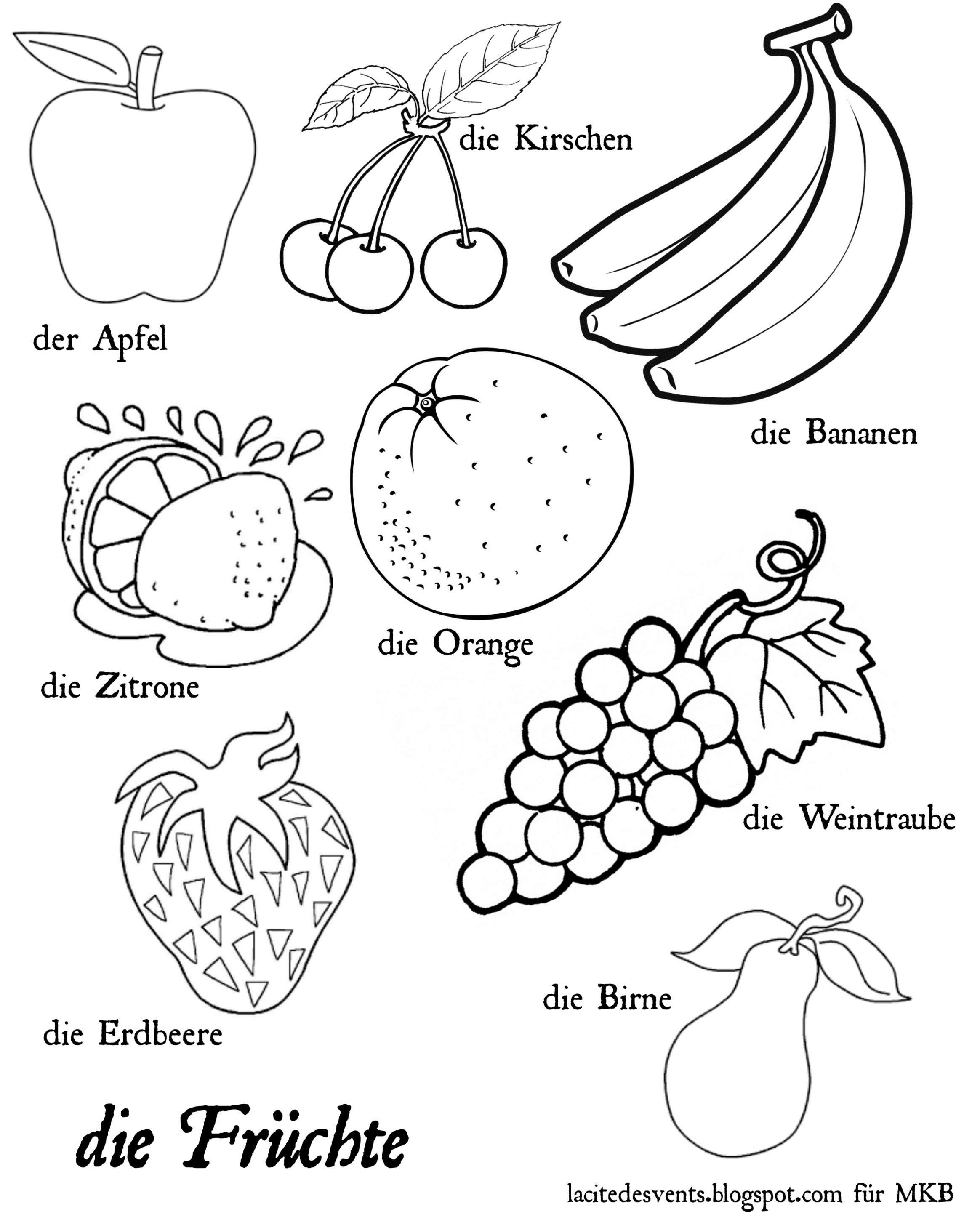 fruits drawing for colouring craftsactvities and worksheets for preschooltoddler and for fruits colouring drawing
