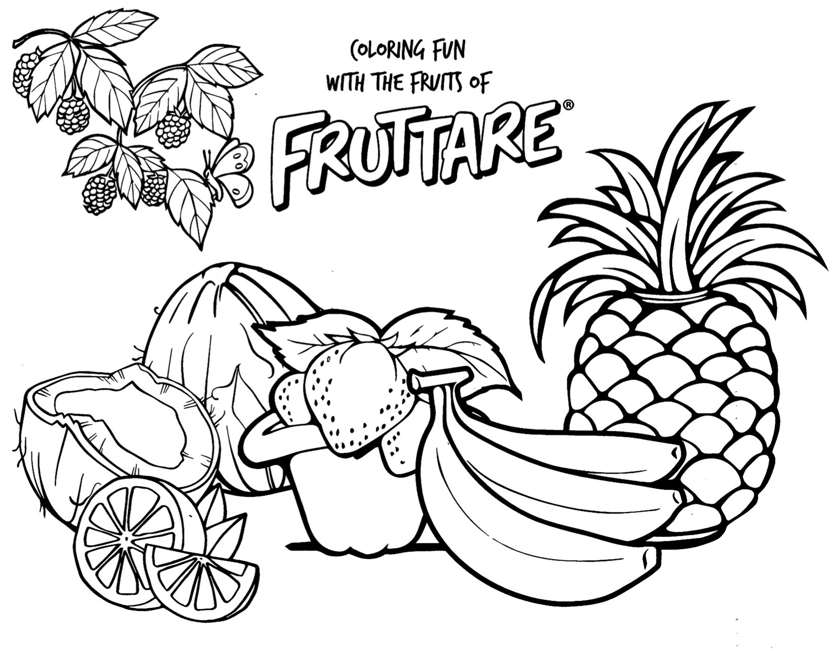 fruits drawing for colouring free printable fruit coloring pages for kids for fruits drawing colouring