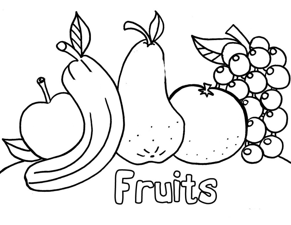 fruits drawing for colouring fruits drawing for colouring at getdrawings free download fruits for drawing colouring
