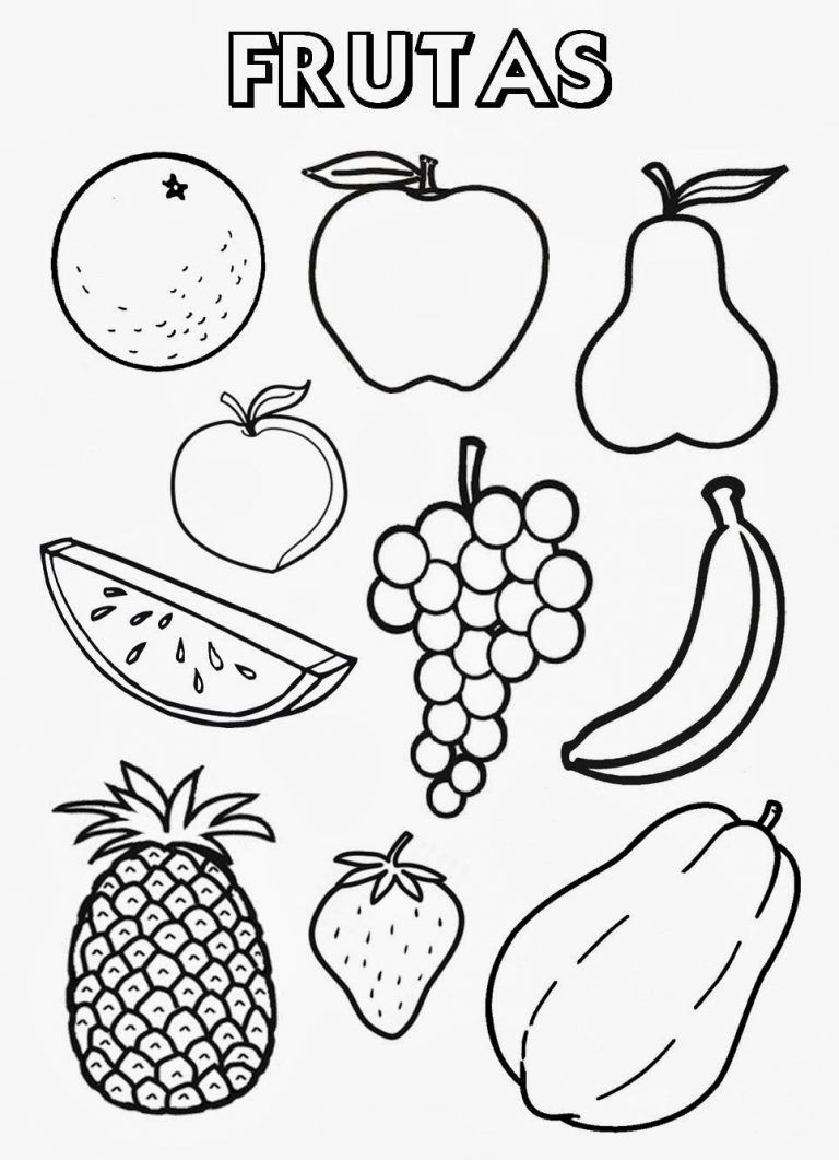 fruits drawing for colouring fruits images for drawing clipart best colouring fruits drawing for