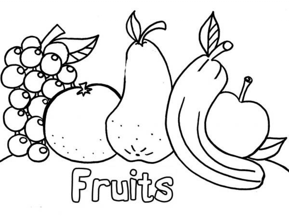 fruits drawing for colouring printable drawing worksheets for kids at getdrawings colouring for fruits drawing