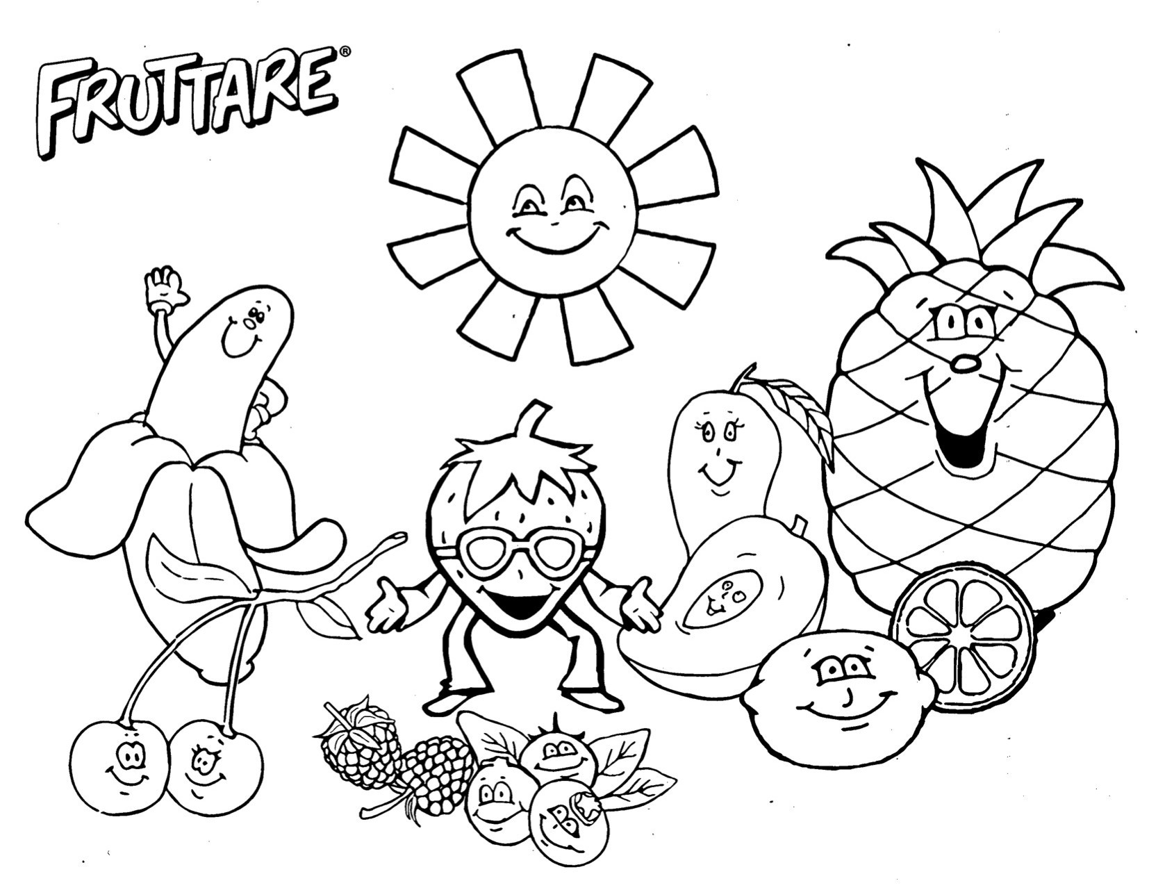 fruits images for coloring free printable fruit coloring pages for kids for images coloring fruits