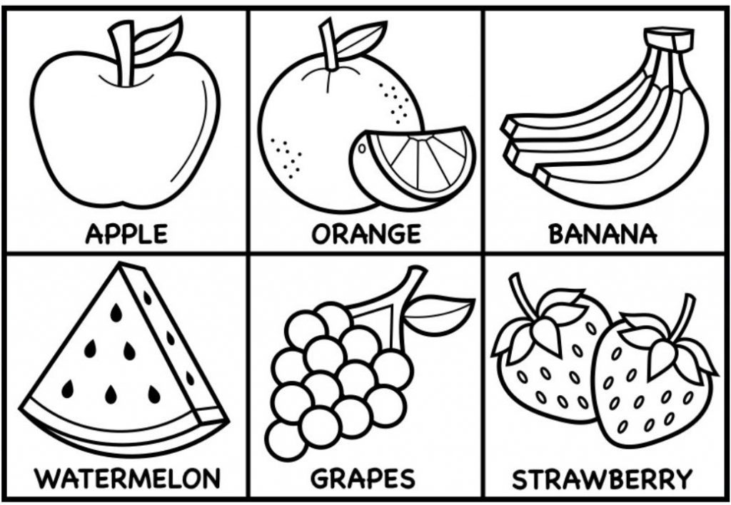 fruits images for coloring fruits drawing for colouring at getdrawings free download fruits images coloring for