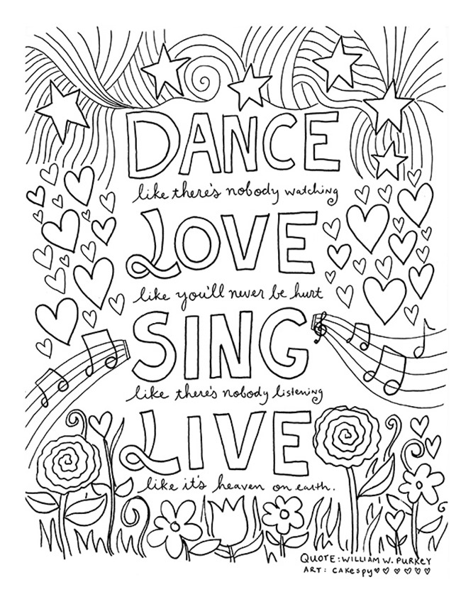funny coloring sayings 12 inspiring quote coloring pages for adultsfree printables sayings coloring funny