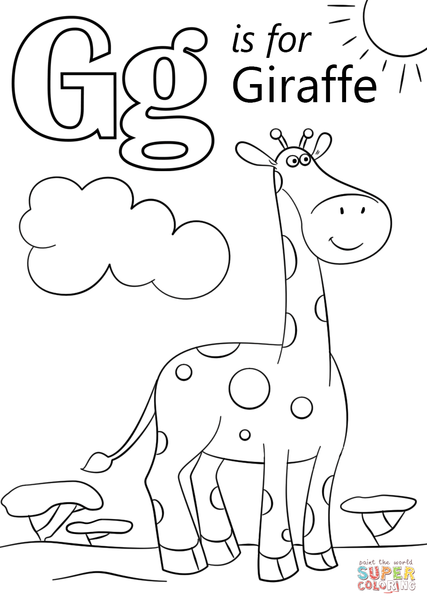 g coloring pictures letter g coloring pages preschool and kindergarten pictures coloring g