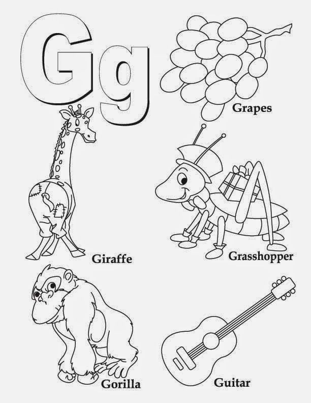 g coloring pictures letter g coloring pages preschool coloring home pictures g coloring